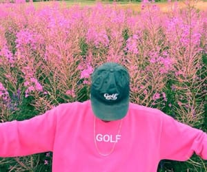 pink, golf, and flowers image