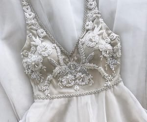bridal, wedding, and wedding dress image