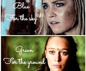 lexa, clarke griffin, and the 100 image