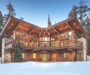 aesthetic, cabin, and christmas image
