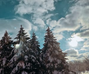azul, clouds, and nieve image