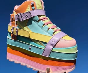 aesthetic, rainbow, and shoes image