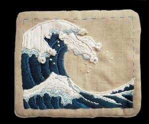 waves, art, and indie image