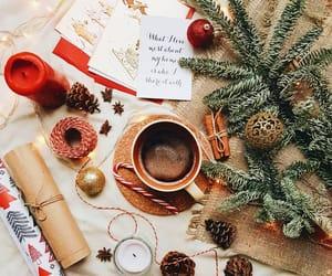 candle, christmas, and christmas tree image