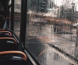 rain, bus, and aesthetic image