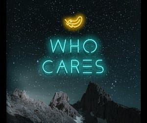 background, neon, and who cares image