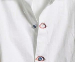 white, eyes, and shirt image