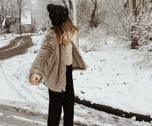 fashion, holidays, and snow image