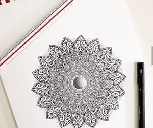 mandala, black and white, and drawing image