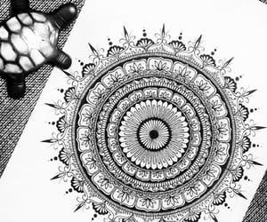 mandala, black and white, and drawings image