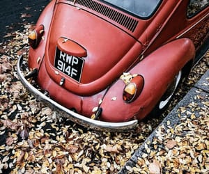 autumn, car, and red image