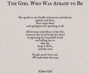 quotes, nikita gill, and sad image