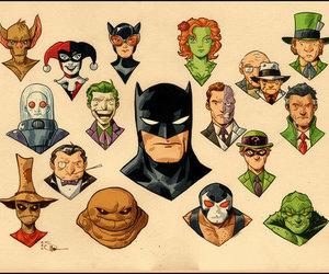 batman, comic, and illustration image