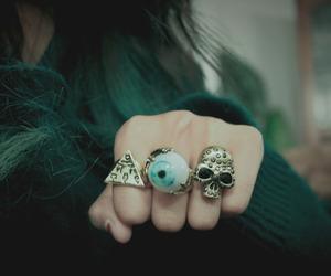 rings, skull, and eye image