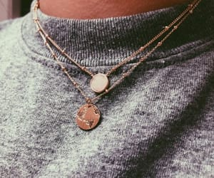 accessories, necklace, and sweater image