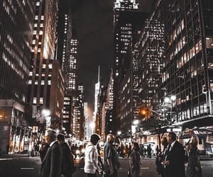 city, night, and travel image