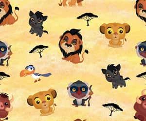 background, disney, and lion king image