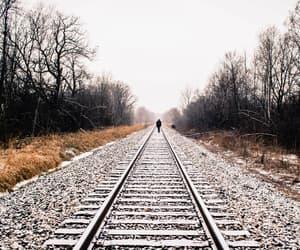rail, solitude, and white image