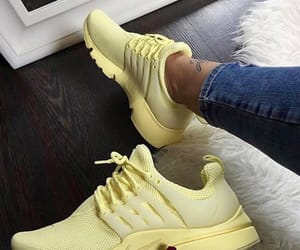 shoes, nike, and yellow image