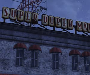 building, grocery store, and super duper mart image