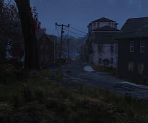 buildings, dark, and empty image