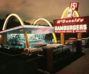 McDonalds, vintage, and food image