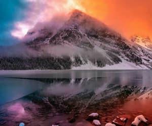 beautiful scenery, colorful sky, and dreamlike image