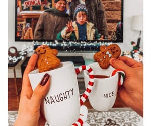 christmas, candy cane, and gingerbread image