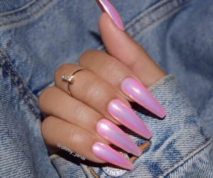 aesthetic, pink, and fake nails image