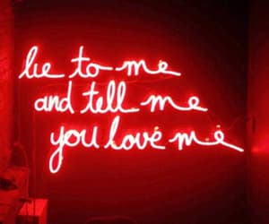 red, neon, and quotes image
