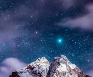 moon, moonlight, and mountain image