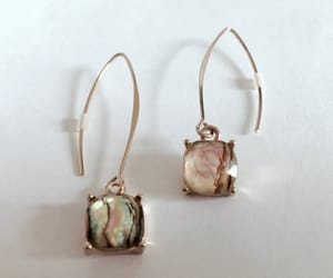 accessories, gold tone, and pierced earrings image