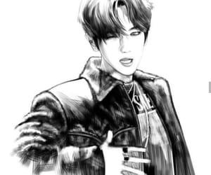 baekhyun, draw, and exo image