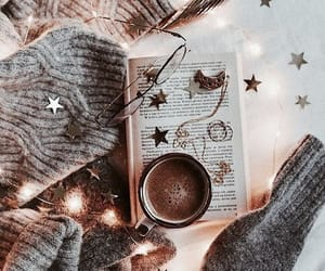 book, winter, and light image