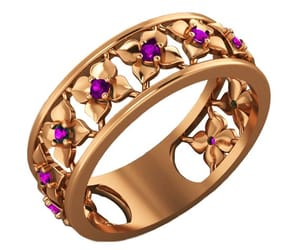 etsy, floral jewelry, and filigree band image