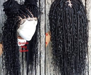 boho, braids, and curls image