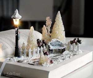 book, christmas, and diy decor image