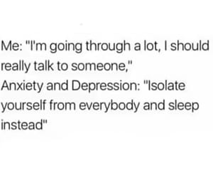 alone, anxiety, and depression image