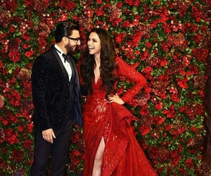 dress, bollywood, and couple image