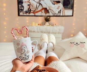 christmas, cozy, and coffee image