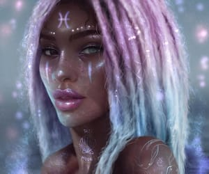 pisces, astrology, and digital art image