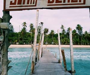 Island, lagoon, and paradise image