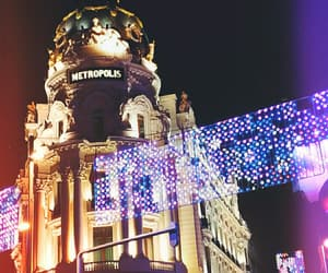architecture, madrid, and night image