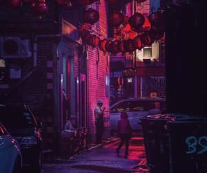 street, neon, and night image
