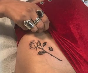 flower, girly, and flowers tattoo image