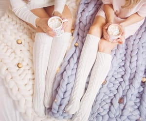 blanket, fashion, and hot coco image