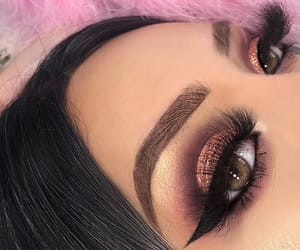 eye makeup, pretty girls, and girly inspiration image