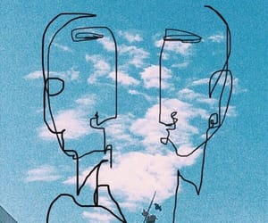 art, blue sky, and cloud image