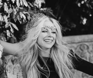 Avril Lavigne, black and white, and music image
