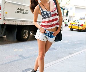 girl, fashion, and shorts image